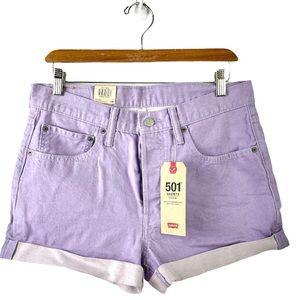 NWT Levi's 501 Mauve Denim Shorts US 30